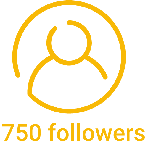 750 instagram followers